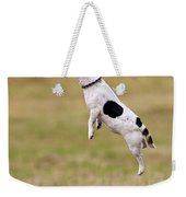 Jack Russell Jumping For Ball Weekender Tote Bag