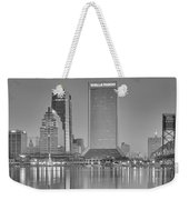 Jacksonville Florida Black And White Panoramic View Weekender Tote Bag