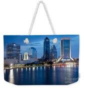 Jacksonville Skyline At Dusk Weekender Tote Bag