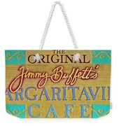 Jimmy Buffetts Margaritaville Cafe Sign The Original Weekender Tote Bag