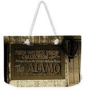 John Wayne's Prop Collection The Alamo Old Tucson Arizona 1967-2009 Weekender Tote Bag