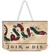 Join Or Die Cartoon 1754 Weekender Tote Bag