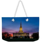 Jordan River Temple Sunset Weekender Tote Bag