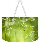 June Green Grass Flowering Weekender Tote Bag by Elena Elisseeva