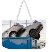Junk Cars In Dumpster Cash For Clunkers Weekender Tote Bag