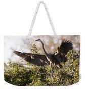 Juvenile Blue Heron Weekender Tote Bag