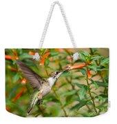 Juvenile Male Ruby-throated Hummingbird Weekender Tote Bag