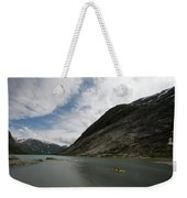 Kayaking To The Nigardsbreen Glacier Weekender Tote Bag
