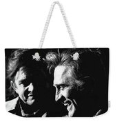 Kirk Douglas Laughing Johnny Cash Old Tucson Arizona 1971 Weekender Tote Bag