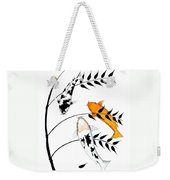 Koi Utsurimono Yellow Golden Ogon Bekko And Bamboo   Weekender Tote Bag