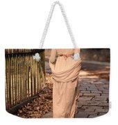 Lady In Regency Dress Walking Weekender Tote Bag