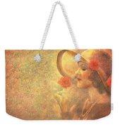 1-lady In The Flower Garden Weekender Tote Bag