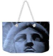 Lady Liberty In Cyan Weekender Tote Bag