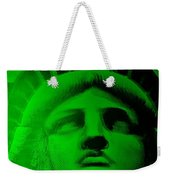 Lady Liberty In Green Weekender Tote Bag