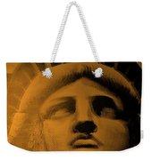 Lady Liberty In Orange Weekender Tote Bag