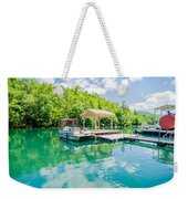 Lake Fontana Boats And Ramp In Great Smoky Mountains Nc Weekender Tote Bag