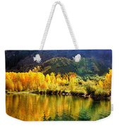 Lake Reflection In Fall  Weekender Tote Bag