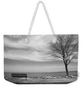 Lake Tree And Park Bench Weekender Tote Bag