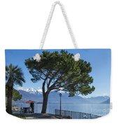 Lakeside With Trees Weekender Tote Bag