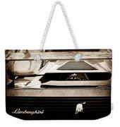 Lamborghini Rear View Emblem Weekender Tote Bag