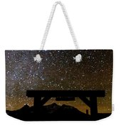 Last Dollar Gate And Milky Way Starry Weekender Tote Bag