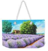 Lavender Lines Weekender Tote Bag