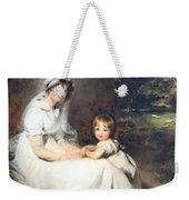Lawrence's Lady Mary Templetown And Her Eldest Son Weekender Tote Bag