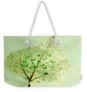Leaf With Green Drops Weekender Tote Bag