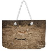 Leaping Impala Weekender Tote Bag