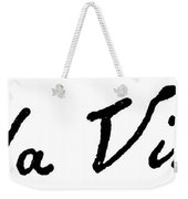 Leonardo Da Vinci (1452-1519) Weekender Tote Bag