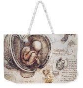 Leonardo: Human Fetus Weekender Tote Bag