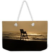Lifeguard Chair In The Morning Weekender Tote Bag