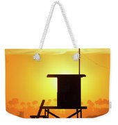 Lifeguard Tower On The Beach, Newport Weekender Tote Bag