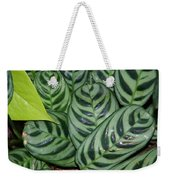 Light And Dark Green Leaves Weekender Tote Bag
