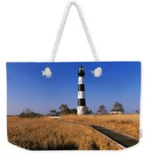 Lighthouse In A Field, Bodie Island Weekender Tote Bag
