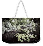 Lily Pads On Dark Water Weekender Tote Bag