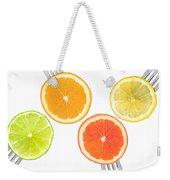 Lime Lemon Orange And Grapefruit Citrus Fruit Weekender Tote Bag