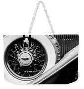 Lincoln Spare Tire Emblem Weekender Tote Bag by Jill Reger