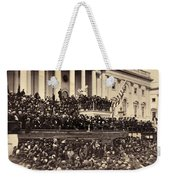 Lincoln's Inauguration, 1865 Weekender Tote Bag