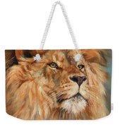 Lion Weekender Tote Bag by David Stribbling