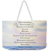 Live One Day At A Time Weekender Tote Bag