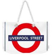 Liverpool Street  Weekender Tote Bag