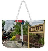 Llangollen Railway Station Weekender Tote Bag