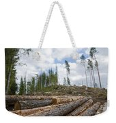Logpile At A Clear Cut Area Weekender Tote Bag