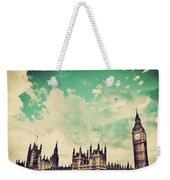 London Uk Big Ben The Palace Of Westminster Weekender Tote Bag