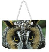 Long-eared Owl Up Close Weekender Tote Bag