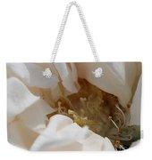 Long-stemmed White Rose Weekender Tote Bag