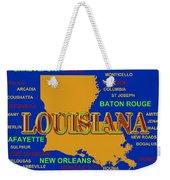 Louisiana State Pride Map Silhouette  Weekender Tote Bag