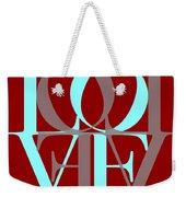 Love Typography Weekender Tote Bag
