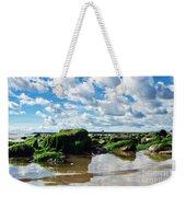 Low Tide At Lyme Regis Weekender Tote Bag
